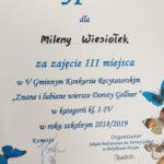 Dyplom Milenki.