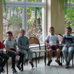 uczniowie podczas spotkania