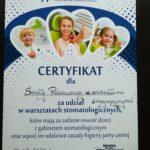 Certyfikat dla szkoły.