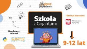 WAKACJE Z GIGANTAMI                            / bezpłatne, wakacyjne warsztaty online dla uczniów/