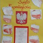 """Galeria prac plastycznych """"Symbole narodowe""""."""