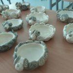 Prace ceramiczne dzieci.