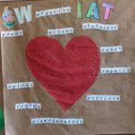 Plakat zrobiony przez dzieci.